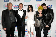 (L-R) Charlie Musselwhite, Carson Kressley, Kesha, Cyndi Lauper and Marilyn Manson arrive at the Cyndi Lauper And Friends: Home For The Holidays Benefit at The Novo by Microsoft on December 10, 2019 in Los Angeles, California.