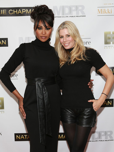 in this photo cynthia bailey aviva drescher cynthia bailey l and aviva