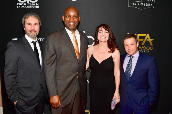 21st Annual Hollywood Film Awards - Red Carpet [red carpet,event,premiere,suit,award,formal wear,denis villeneuve,andrew kosove,cynthia sikes,broderick johnson,honorees,beverly hills,california,l-r,annual hollywood film awards]