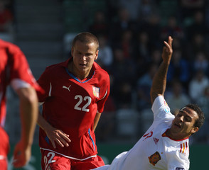 Adam Hlousek Czech Republic v Spain - UEFA European U21 Championships
