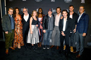 Titans Executive Producers and Cast (L-R) John Fawcett, Minka Kelly, Akiva Goldsman, Teagan Croft, Anna Diop, Geoff Johns, Brenton Thwaites, Ryan Potter, Alan Ritchson and Greg Walker attend DC UNIVERSE's Titans World Premiere on October 3, 2018 in New York City.