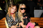 Brandi Cyrus (L) and Paris Hilton attend as DIESEL celebrates the exclusive launch of DIESEL Wynwood 28, their first residential building, with a DJ set by Amrit at Barter on December 04, 2019 in Miami, Florida.