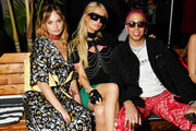 (L-R) Brandi Cyrus, Paris Hilton, and Purple attend as DIESEL celebrates the exclusive launch of DIESEL Wynwood 28, their first residential building, with a DJ set by Amrit at Barter on December 04, 2019 in Miami, Florida.