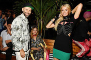 (L-R) Stefano Rosso, Brandi Cyrus, and Paris Hilton attend as DIESEL celebrates the exclusive launch of DIESEL Wynwood 28, their first residential building, with a DJ set by Amrit at Barter on December 04, 2019 in Miami, Florida.