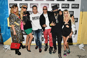 (L-R) Brandi Cyrus, Paris Hilton, Patrick Pires, Purple, Alec Monopoly, and Alexa Dellanos attend as DIESEL celebrates the exclusive launch of DIESEL Wynwood 28, their first residential building, with a DJ set by Amrit at Barter on December 04, 2019 in Miami, Florida.