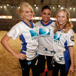 She plays sand football with Jordin Sparks and Candice Accola.