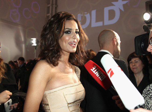 British singer Cheryl Cole gives an interview upon her arrival at the DLD Starnight at Haus der Kunst on January 25, 2010 in Munich, Germany.