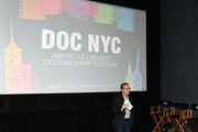 """Artistic director of documentary festival DOC NYC Thom Powers speaks on stage at DOC NYC Premiere of the HBO documentary film """"Traffic Stop"""" at IFC Center on November 14, 2017 in New York City."""