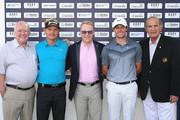(L-R) George Horan (President of Dubai Duty Free), Soren Kjeldsen of Denmark, Keith Pelley (Chief Executive of The European Tour), Rory McIlroy of Northern Ireland and Colm McLoughlin (Executive Vice Chairman of Dubai Duty Free) pose for a photograph as they launch ticket sales for the 2016 Dubai Duty Free Irish Open prior to the start of the DP World Tour Championship on the Earth Course at Jumeirah Golf Estates on November 17, 2015 in Dubai, United Arab Emirates.