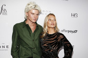 Jordan Barrett and Kate Moss attend The Daily Front Row's 7th annual Fashion Media Awards on September 05, 2019 in New York City.