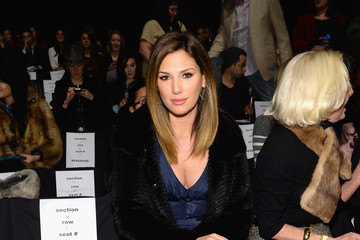 Daisy Fuentes Front Row at the Carmen Marc Valvo Show