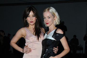 Daisy Lowe Portia Freeman Giles: Front Row - London Fashion Week AW14