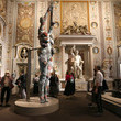 Damien Hirst Damien Hirst Archaeology now exhibition at Villa Borghese, Rome. Sponsored by Prada.