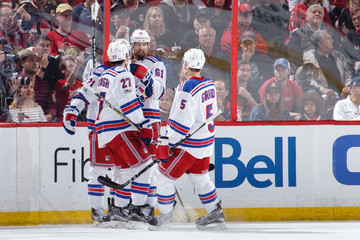 Dan Girardi Derek Stepan New York Rangers v Ottawa Senators - Game Two