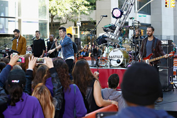 """Dan Smith Chris 'Woody' Wood Bastille Performs On NBC's """"Today"""""""