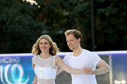 Donna Air and Mark Hanretty skate during the Dancing On Ice 2018 photocall held at Natural History Museum Ice Rink on December 19, 2017 in London, England.