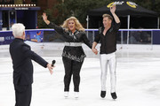 Phillip Schofield, Gemma Collins and Matt Evers during a photocall for the new series of Dancing On Ice at the Natural History Museum Ice Rink on December 18, 2018 in London, England.