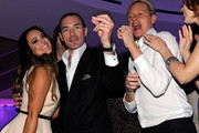 """(L-R) Dancer Lacey Schwimmer, Chairman and CEO of the New Tropicana Las Vegas, Inc. Alex Yemenidjian and television personality Carson Kressley attend the after party for the grand opening of """"Dancing With the Stars: Live in Las Vegas"""" at the New Tropicana Las Vegas April 13, 2012 in Las Vegas, Nevada."""