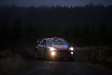 Dani Sordo FIA World Rally Championship Great Britain - Day Two