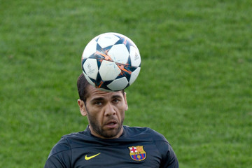 Daniel Alves FC Barcelona Training Session