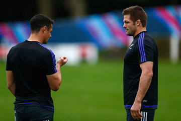 Daniel Carter New Zealand All Blacks Captain's Run