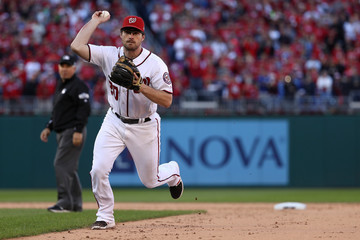 Daniel Murphy Division Series - Los Angeles Dodgers v Washington Nationals - Game Two
