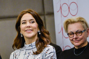 The Crown Princess Mary of Denmark arrives for a debate  on the integration of people with disabilities at Bristol Hotel November 25, 2019 in Warsaw, Poland. The Danish Crown Prince and his wife are on an official visit to Poland on the occasion of the centenary of the resumption of diplomatic relations between Denmark and Poland.