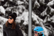 Princess Mary of Denmark, Princess Josephine of Denmark and Princess Isabella of Denmark meet the press, whilst on skiing holiday on February 14, 2014 in Verbier, Switzerland.