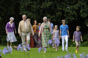 Queen Margrethe II, Prince Consort Henrik of Denmark, Crown Prince Frederik and Crown Princess Mary, Prince Christian, Princess Isabella, Prince Vincent Frederik Minik Alexander, Princess Benedicte pose during a photocall for the Royal Danish family at their summer residence of Grasten Slot on July 20, 2012 in Grasten, Denmark.