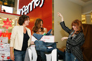 "From ""The Real Housewives of New York City Countess LuAnn de Lesseps, Kelly Bensimon and Jill Zarin celebrate Earth Week at the Goodwill Denim Drive at JCPenney on April 24, 2010 in New York City."