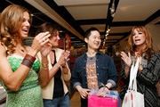 "From ""The Real Housewives of New York City"" Kelly Bensimon, Countess LuAnn de Lesseps, environmental lifestyle expert Danny Seo and Jill Zarin shop eco-friendly to celebrate Earth Week at the Goodwill Denim Drive at JCPenney on April 24, 2010 in New York City."