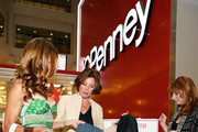 "(L-R) ""The Real Housewives of New York City"" Kelly Bensimon, Countess LuAnn de Lesseps and Jill Zarin donate denim to celebrate Earth Week at the Goodwill Denim Drive at JCPenney on April 24, 2010 in New York City."