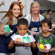 Darby Stanchfield Betsy Brandt, Darby Stanchfield, and Alison Sweeney Volunteer With Feeding America And The Los Angeles Regional Food Bank To Raise Awareness Around Summer Hunger At The Siemon Center