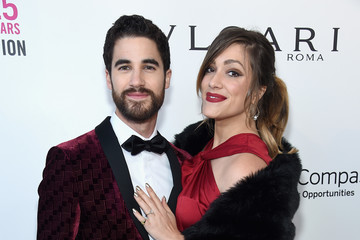 Darren Criss Mia Swier 26th Annual Elton John AIDS Foundation Academy Awards Viewing Party sponsored by Bulgari, celebrating EJAF and the 90th Academy Awards - Red Carpet