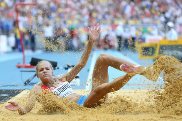 Darya Klishina 14th IAAF World Athletics Championships Moscow 2013 - Day Two