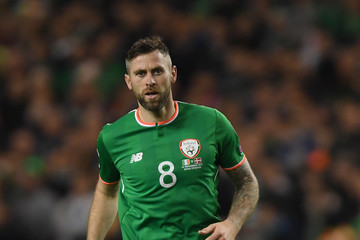 Daryl Murphy Republic of Ireland v Denmark - FIFA 2018 World Cup Qualifier Play-Off: Second Leg