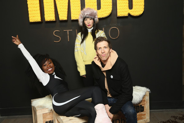 The IMDb Studio at the 2018 Sundance Film Festival - Day 2 [white rabbit,yellow,fun,event,font,room,sitting,photography,performance,team,vivian bang,daryl wein,actor,l-r,nana ghana,location,utah,imdb studio,sundance film festival]