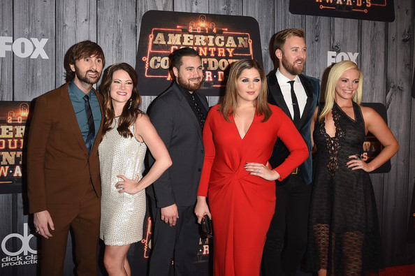 Arrivals at the American Country Countdown Awards — Part 2 [event,premiere,dress,little black dress,arrivals,dave haywood,charles kelley,hillary scott,chris tyrrell,kelli cashiola,cassie mcconnell,american country countdown awards,music city center,lady antebellum]
