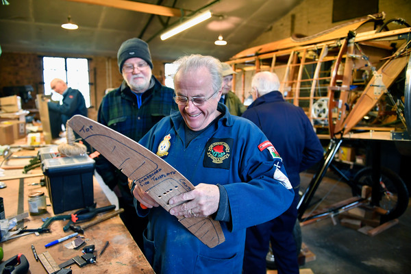 A Team Of Pensioners Build A Recreation Of A WWI Bi-Plane Plane