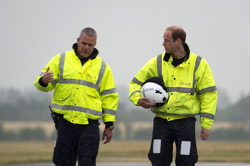 Dave Kelly Duke of Cambridge Begins First Shift As Air Ambulance Pilot