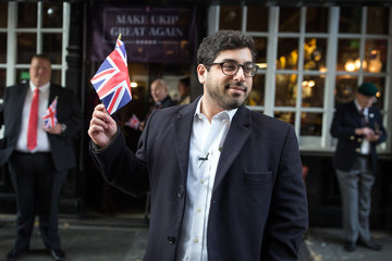 Dave Smith UKIP Leadership Contender Raheem Kassam Gives Campaign Speech
