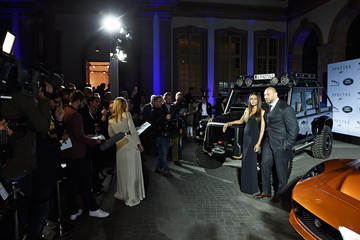 David Bautista Jaguar Land Rover Celebrate Their Vehicles Starring in the New Bond Film