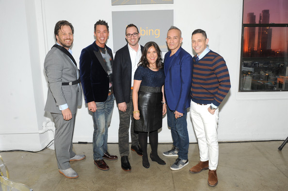 NYC Bing Redesign Panel  [social group,event,team,room,house,interior design,white-collar worker,david bromstad,jonathan adler,scott erickson,ingrid abramovitch,michael kroll,cesar galindo,l-r,new york city,nyc bing redesign panel,redesign panel]