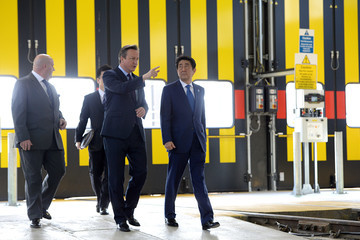 David Cameron David Cameron and Prime Minister Abe of Japan Visit a West London Business