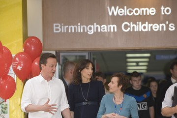 Fiona Reynolds David Cameron Campaigns In The West Midlands