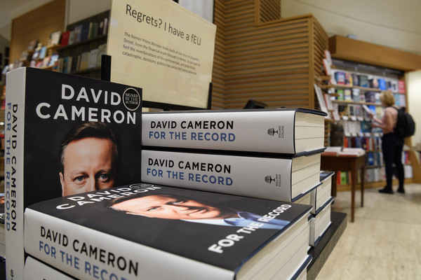 Former Prime Minister David Cameron's Memoir Is Published