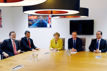 David Cameron Francois Hollande EU Heads Of State Meet With Turkey To Finalise Migrant Deal