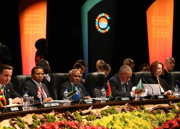 Queen Attends CHOGM - Day 1