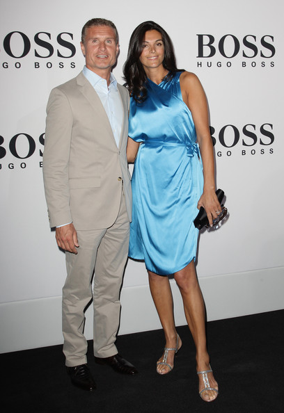 David Coulthard with beautiful, friendly, enigmatic, Wife Karen Minier