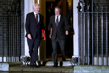 David Davis Ministers Attend Theresa May's Inner Brexit Cabinet Meeting